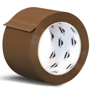144 Rolls Brown Tan Acrylic Packing Tape Shipping 3-inch Wide 1.8 Mil 55 yards 330'