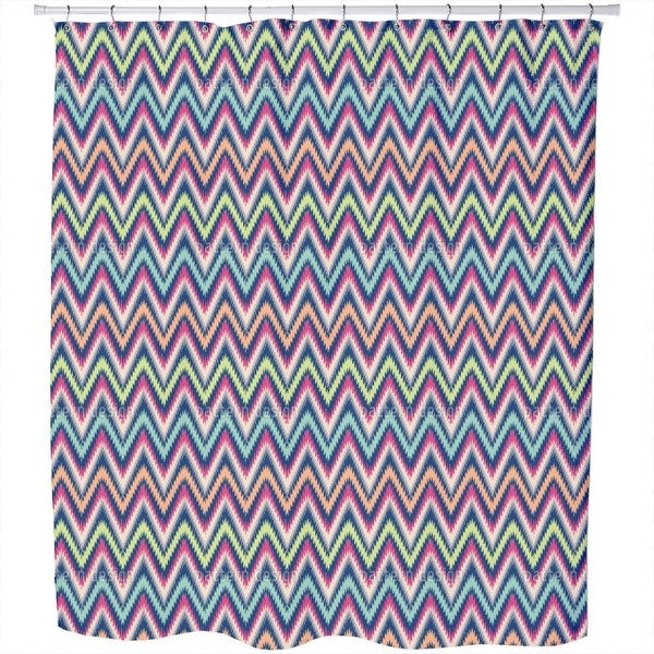 Zig Zag Mission Shower Curtain
