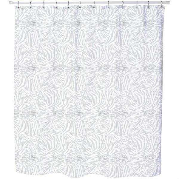 Zebra Monochrome Shower Curtain