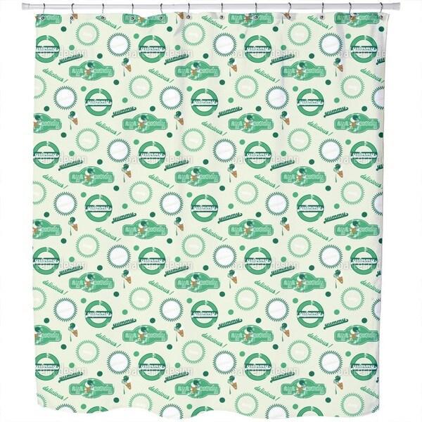 Yummy Green Shower Curtain