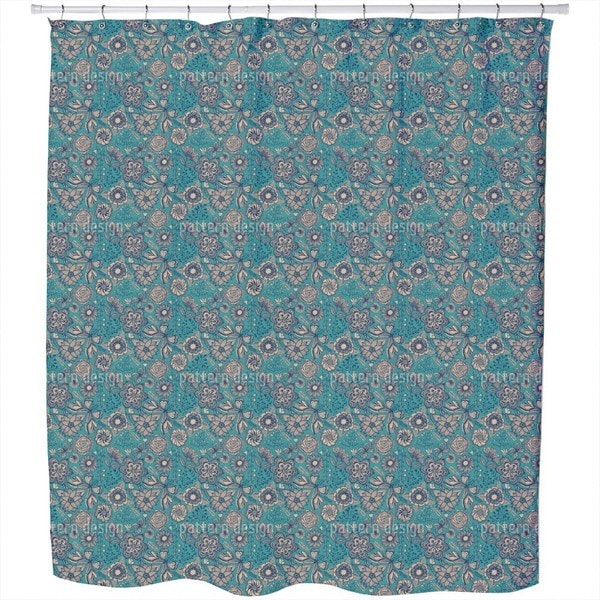 Winter Garden in Moscow Shower Curtain