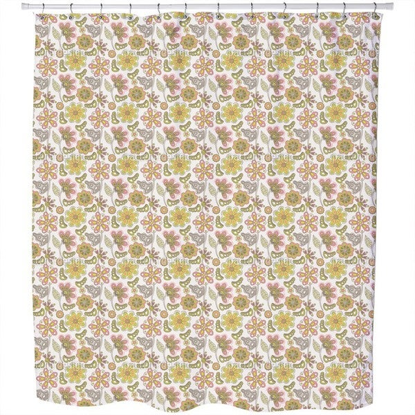 Where The Beautiful Flowers Grow Shower Curtain