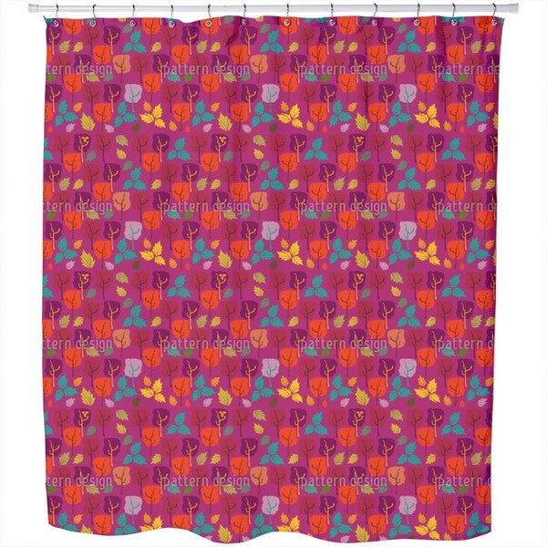 When The Leaves Fall Shower Curtain