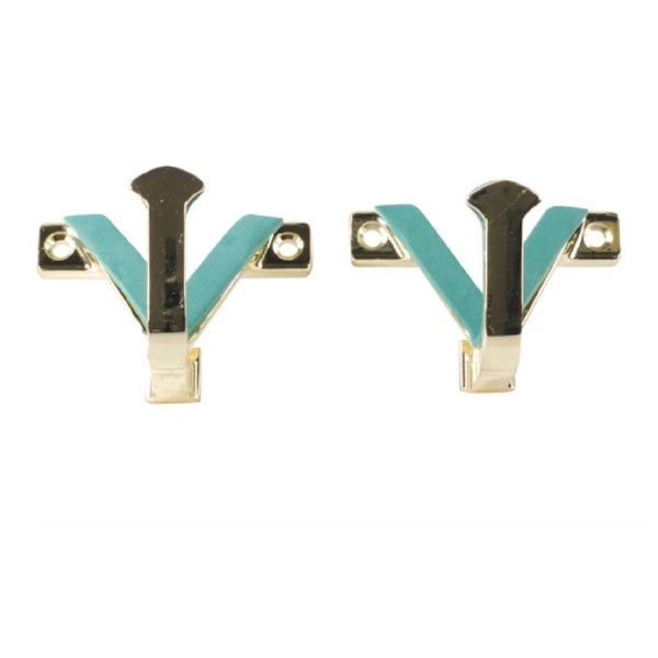 Hyskore Brass Wall Hook Set