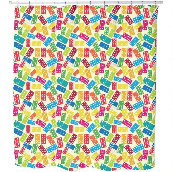 We Play Dominoes Shower Curtain