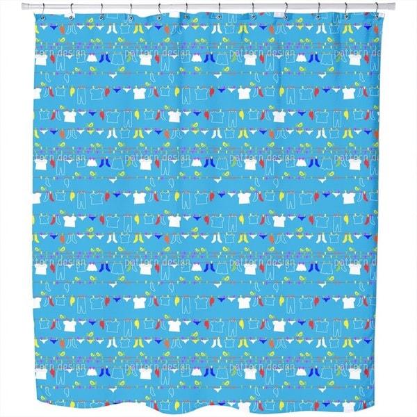 Washing Day Shower Curtain