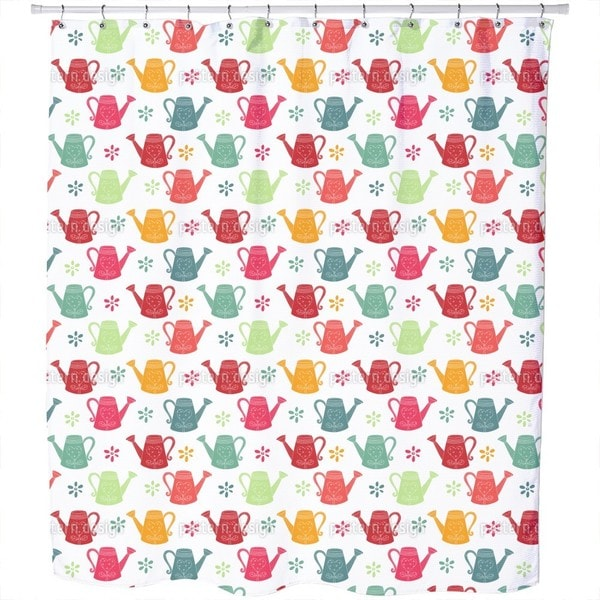 Watering Can Romance Shower Curtain