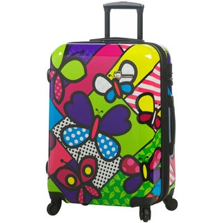Mia Toro Italy Butterfly 24-inch Fashion Hardside Spinner Upright Suitcase