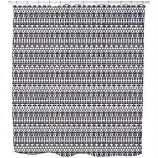 Tribal Monochrome Shower Curtain|https://ak1.ostkcdn.com/images/products/11614325/P18550848.jpg?impolicy=medium