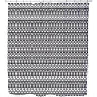 Tribal Monochrome Shower Curtain