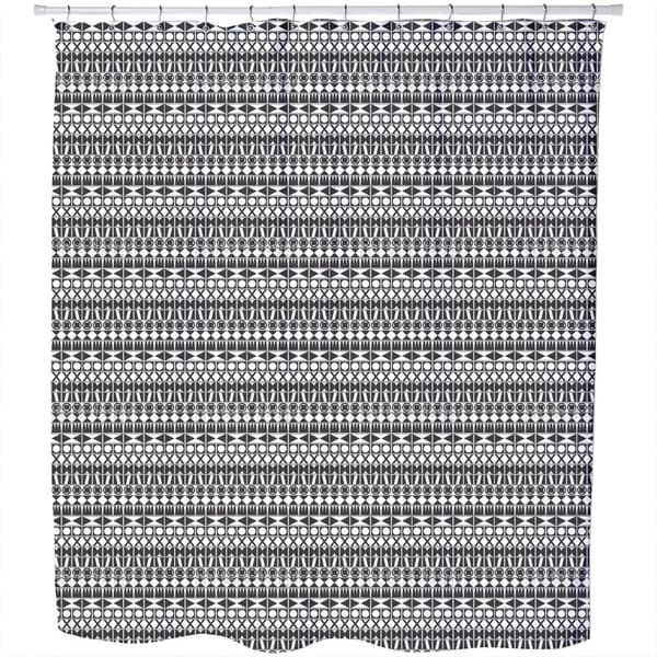 Tribal Monochrome Shower Curtain