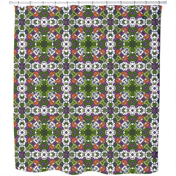 Tribal Kaleidoscope Shower Curtain