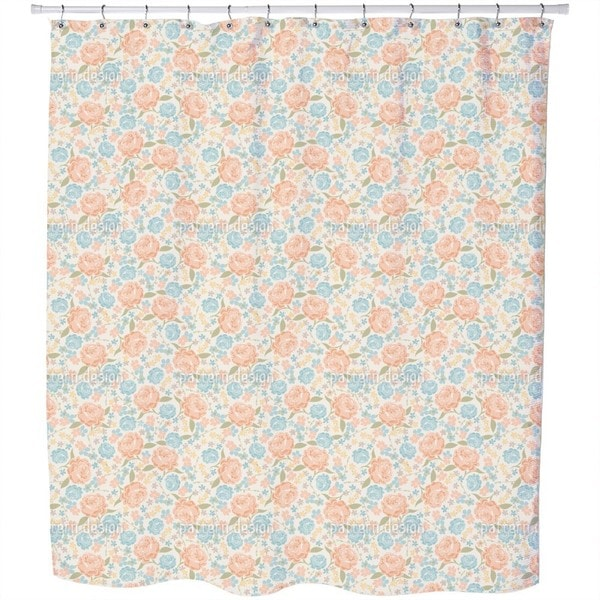Vintage Rose Garden Shower Curtain