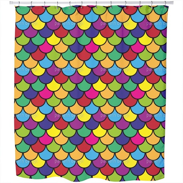 Vibrant Scales Shower Curtain
