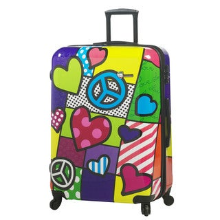 Mia Toro Italy Peace and Love 28-inch Fashion Hardside Spinner Upright Suitcase