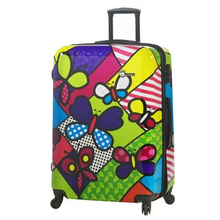 Mia Toro Italy Butterfly 28-inch Fashion Hardside Spinner Upright Suitcase