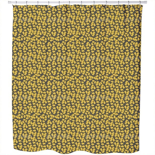 Twin Leaves Shower Curtain