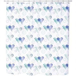Twin Hearts Shower Curtain
