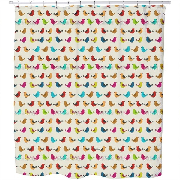 Tweeting Birds Shower Curtain