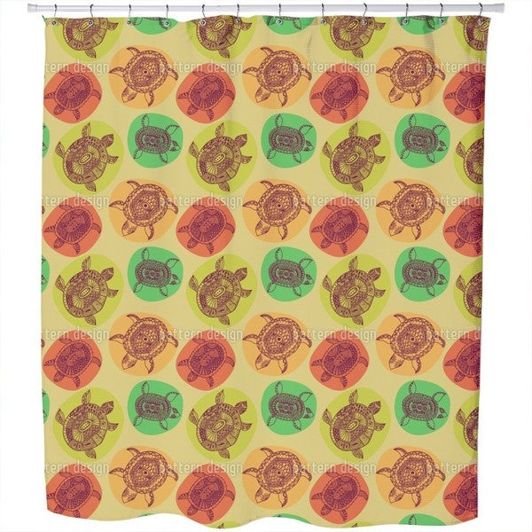 Turtles of All Oceans Shower Curtain