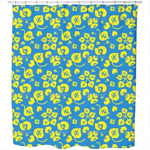Tropical Flower Fantasy Shower Curtain