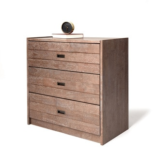 I Love Living Rustic Industrial 3-Drawer 30-inch Bedside Table