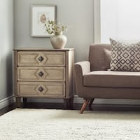Havenside Home Grey Weathered 3-drawer 30-inch Side Table