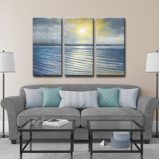 Ready2HangArt Norman Wyatt Jr. 'Ripples' 3-piece Wrapped Canvas Art Set