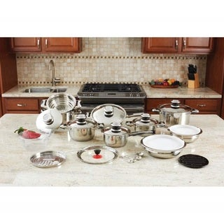 12-element High-quality Stainless Steel Cookware Set (28-piece)