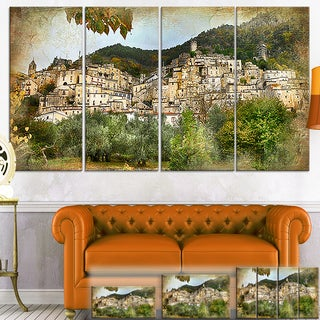 Designart 'Old Italian Villages' Landscape Photography Canvas Wall Art