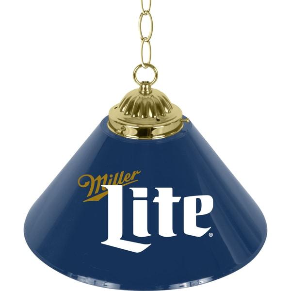 Shop Miller Lite Retro Logo 14 Inch Single Shade Brass Bar
