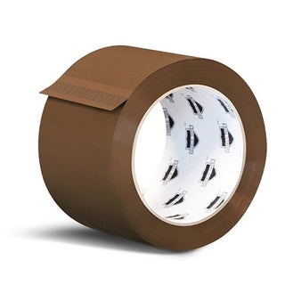 240 Rolls Brown Tan Acrylic Packing Tape Shipping 3-inch Wide 1.8 Mil 55 yards 330'