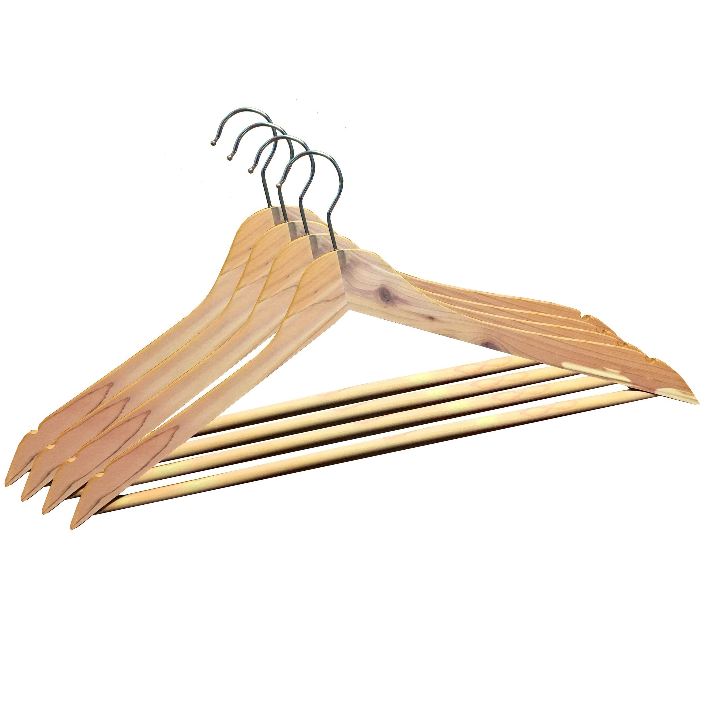 International Innovations Cedar Suit Hangers with Solid P...