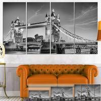 Designart 'Majesty of Tower Bridge London' Cityscape Photo Canvas Print