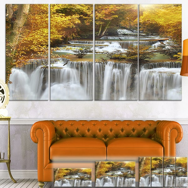 Designart U0026#x27;Autumn Huai Mae Kamin Waterfallu0026#x27; ...