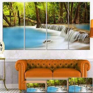 Designart 'View of Huai Mae Kamin Waterfall' Photo Canvas Wall Art