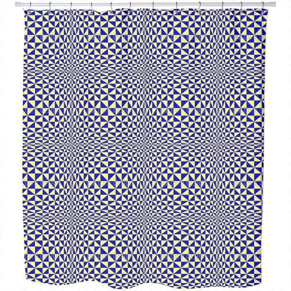 Triangular Geometric Shower Curtain