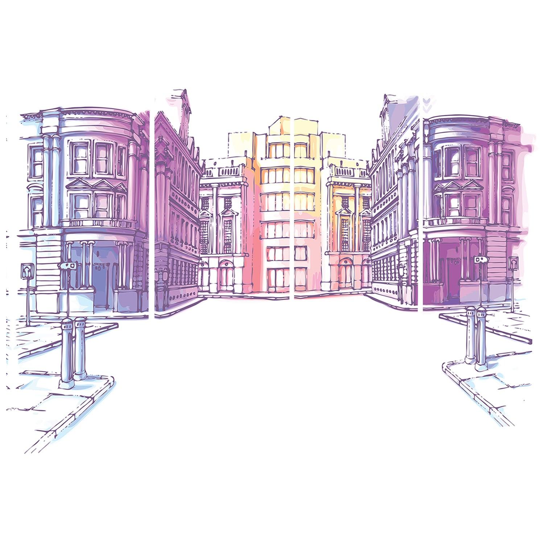 Designart Old City Street Cityscape Canvas Print White Overstock 11614647