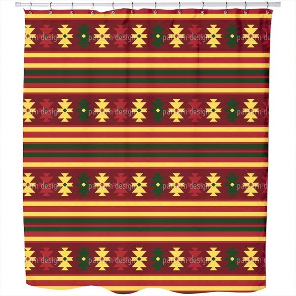 Traditional Kilim Shower Curtain
