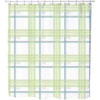 Tile Boy Green Shower Curtain