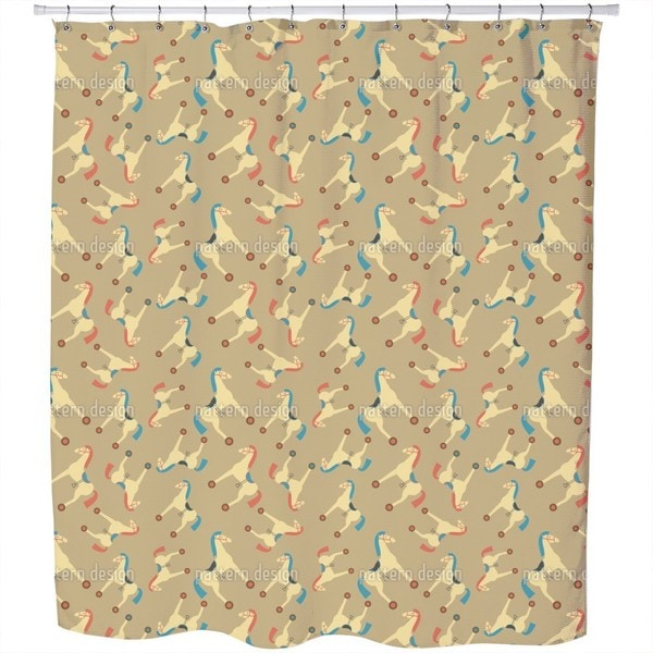 Toy Horses Shower Curtain