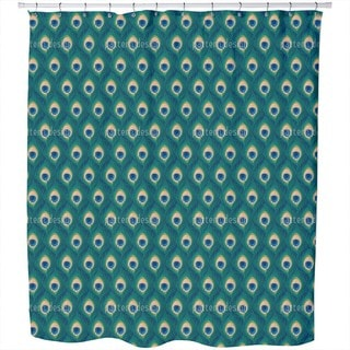Thousand and One Peacock Feathers Shower Curtain