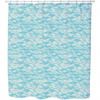They Dreamed of Gentle Ocean Waves Shower Curtain