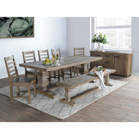 Kasey Reclaimed Wood 83-inch Bench by Kosas Home