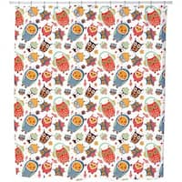 The Sweetest Owls Shower Curtain