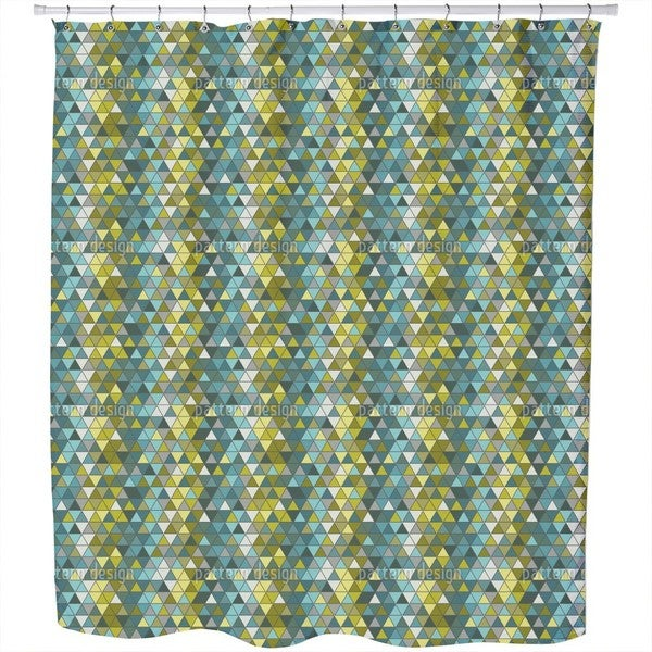 The Sea Side of The Glass Window Shower Curtain