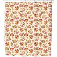 The Snail and The Autumn Shower Curtain