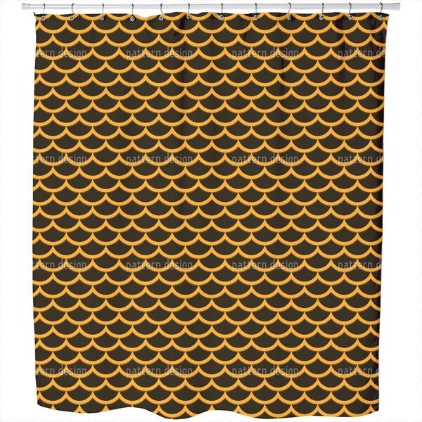 The Sequin Samurai Shower Curtain