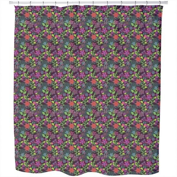 The Secret Strawberry Garden Shower Curtain