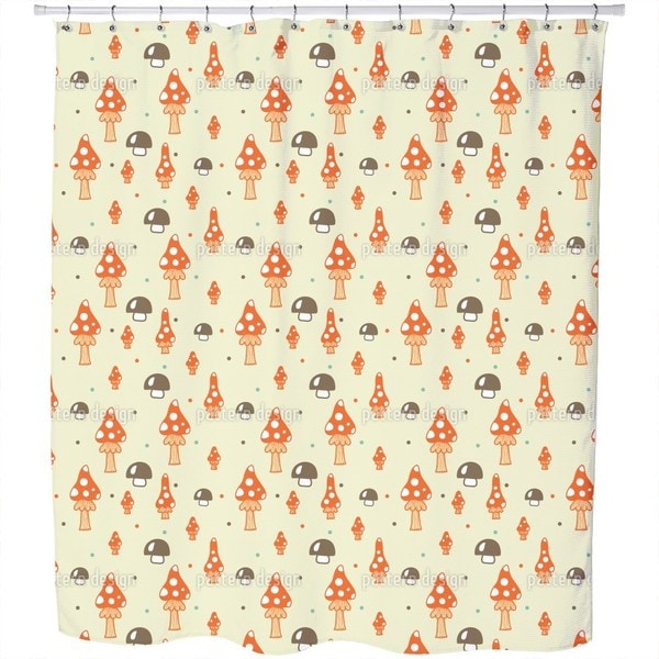 The Mushrooms in The Woods Shower Curtain